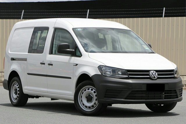 New Volkswagen Caddy 2KN MY20 TSI220 Crewvan Maxi DSG Cardiff, 2020 Volkswagen Caddy 2KN MY20 TSI220 Crewvan Maxi DSG Candy White 7 Speed