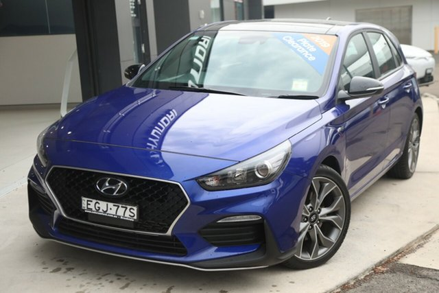 Demo Hyundai i30 PD.3 MY20 N Line D-CT, 2019 Hyundai i30 PD.3 MY20 N Line D-CT Intense Blue 7 Speed Sports Automatic Dual Clutch Hatchback