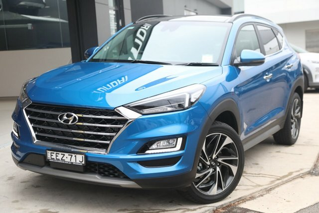 Demo Hyundai Tucson TL3 MY20 Highlander D-CT AWD, 2019 Hyundai Tucson TL3 MY20 Highlander D-CT AWD Aqua Blue 7 Speed Sports Automatic Dual Clutch