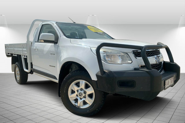 Used Holden Colorado RG MY13 LX 4x2, 2013 Holden Colorado RG MY13 LX 4x2 White 5 Speed Manual Cab Chassis