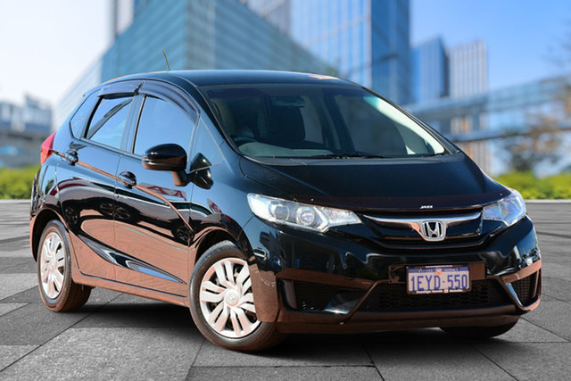 Used Honda Jazz GF MY15 VTi, 2015 Honda Jazz GF MY15 VTi Black 1 Speed Constant Variable Hatchback