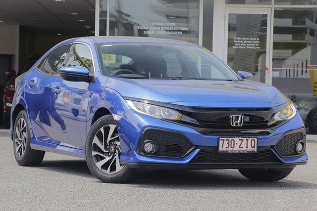 Used Honda Civic 10th Gen MY17 VTi-S, 2017 Honda Civic 10th Gen MY17 VTi-S Blue 1 Speed Constant Variable Hatchback