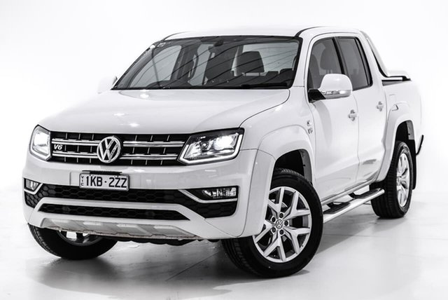 Used Volkswagen Amarok 2H MY18 TDI550 4MOTION Perm Ultimate, 2018 Volkswagen Amarok 2H MY18 TDI550 4MOTION Perm Ultimate White 8 Speed Automatic Utility