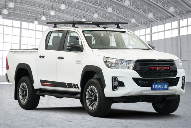 Used Toyota Hilux GUN126R SR Double Cab, 2019 Toyota Hilux GUN126R SR Double Cab White 6 Speed Sports Automatic Utility