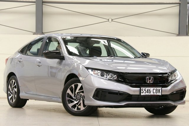 Demo Honda Civic 10th Gen MY19 50 Years Edition, 2019 Honda Civic 10th Gen MY19 50 Years Edition Lunar Silver 1 Speed Constant Variable Sedan