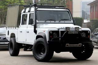 2012 Land Rover Defender MY12 130 Hcpu (4x4) White 6 Speed Manual Crew Cab Pickup.