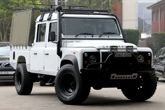 Used Land Rover Defender MY12 130 Hcpu (4x4), 2012 Land Rover Defender MY12 130 Hcpu (4x4) White 6 Speed Manual Crew Cab Pickup