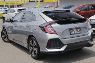 2019 Honda Civic 10th Gen MY19 VTi-LX Lunar Silver 1 Speed Constant Variable Hatchback.