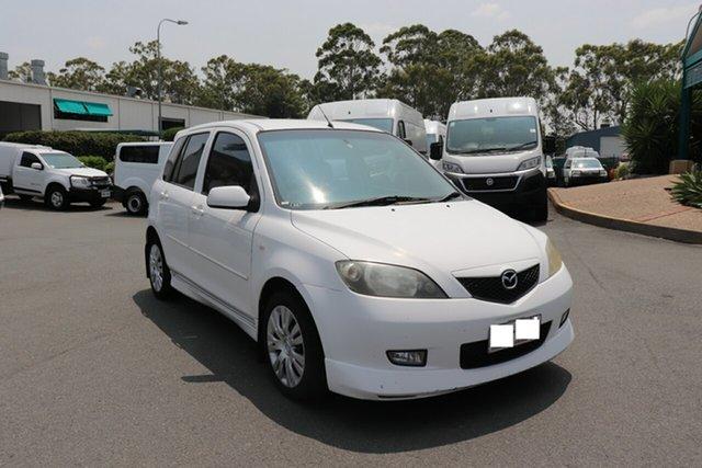 Used Mazda 2 DY10Y1 Genki, 2004 Mazda 2 DY10Y1 Genki White 4 speed Automatic Hatchback