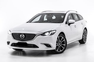 2017 Mazda 6 GL1021 Atenza SKYACTIV-Drive White 6 Speed Sports Automatic Wagon.