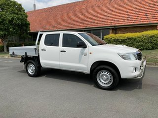 2014 Toyota Hilux KUN26R White 5 Speed Automatic Dual Cab.