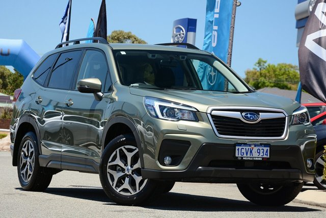 Demo Subaru Forester S5 MY20 2.5i CVT AWD, 2019 Subaru Forester S5 MY20 2.5i CVT AWD Jasper Green Metallic 7 Speed Constant Variable Wagon