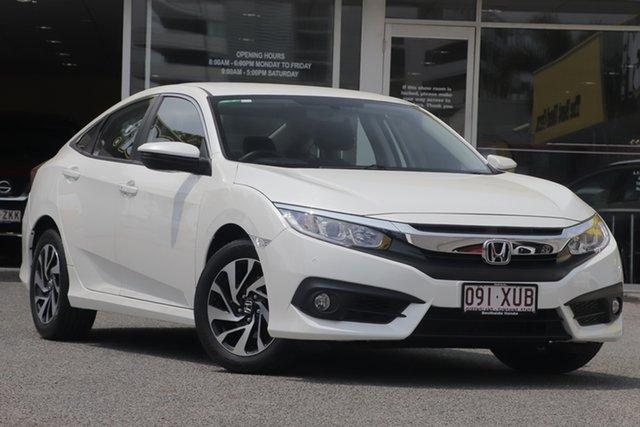 Used Honda Civic 10th Gen MY17 VTi-S, 2017 Honda Civic 10th Gen MY17 VTi-S White 1 Speed Constant Variable Sedan