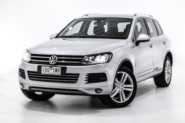 Used Volkswagen Touareg 7P MY13 V6 TDI Tiptronic 4MOTION, 2013 Volkswagen Touareg 7P MY13 V6 TDI Tiptronic 4MOTION Silver 8 Speed Sports Automatic Wagon