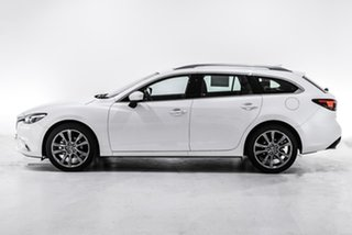2017 Mazda 6 GL1021 Atenza SKYACTIV-Drive White 6 Speed Sports Automatic Wagon