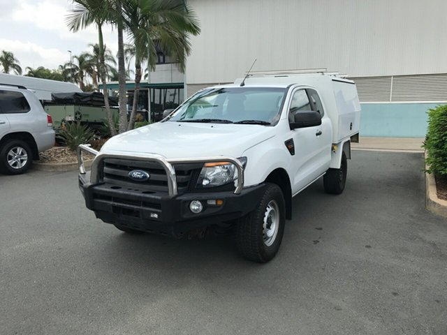 Used Ford Ranger PX XL Super Cab, 2014 Ford Ranger PX XL Super Cab Cool White 6 speed Manual Cab Chassis