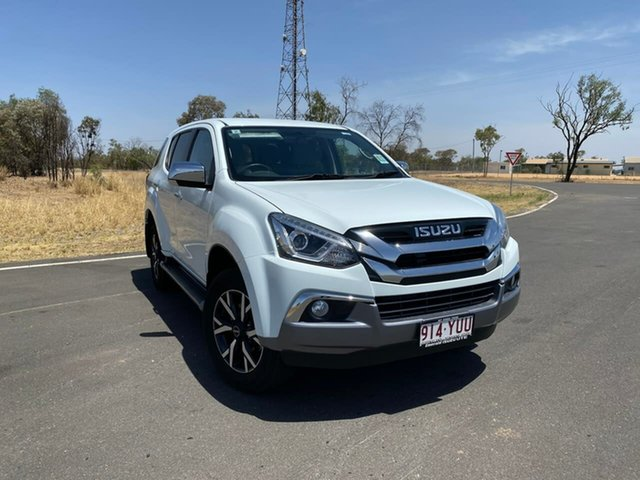 Demo Isuzu MU-X MY19 LS-U Rev-Tronic, 2019 Isuzu MU-X MY19 LS-U Rev-Tronic Splash White 6 Speed Sports Automatic Wagon
