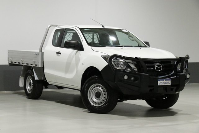 Used Mazda BT-50 MY18 XT (4x4), 2018 Mazda BT-50 MY18 XT (4x4) White 6 Speed Manual Freestyle Cab Chassis