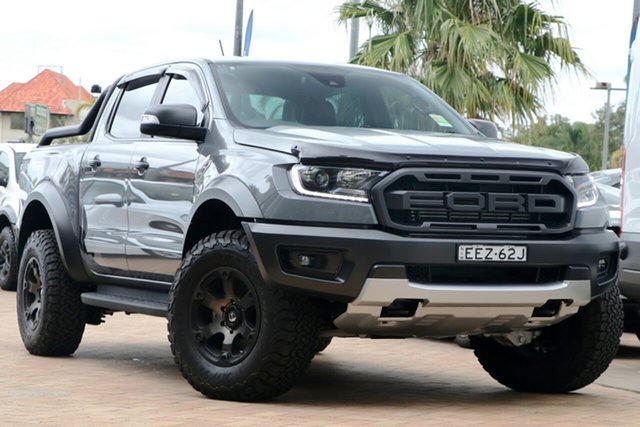 Demo Ford Ranger PX MkIII 2019.75MY Raptor Pick-up Double Cab, 2019 Ford Ranger PX MkIII 2019.75MY Raptor Pick-up Double Cab Conquer Grey 10 Speed Sports Automatic
