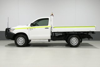 2015 Toyota Hilux KUN26R MY14 SR (4x4) White 5 Speed Manual Cab Chassis