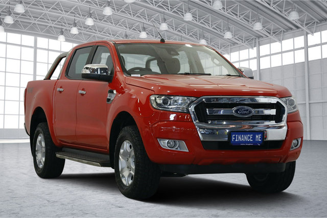 Used Ford Ranger PX MkII XLT Double Cab, 2015 Ford Ranger PX MkII XLT Double Cab Red 6 Speed Sports Automatic Utility