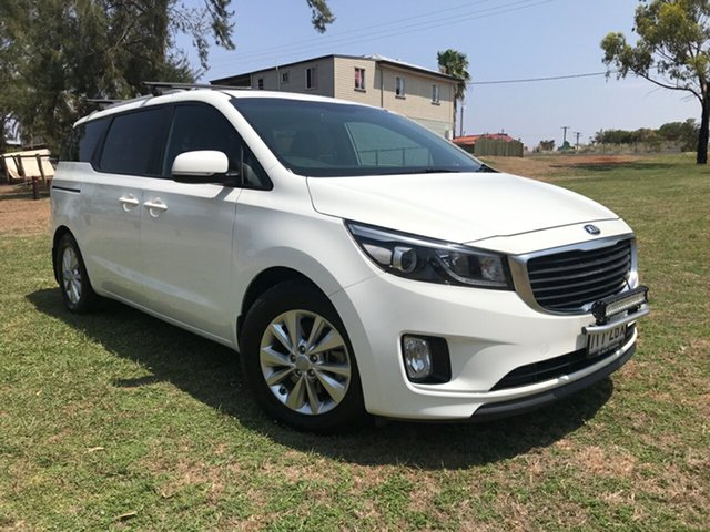 Used Kia Carnival YP MY15 SI, 2015 Kia Carnival YP MY15 SI White 6 Speed Sports Automatic Wagon