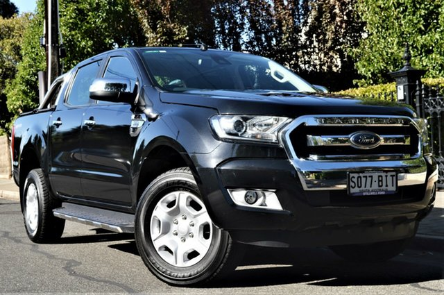 Used Ford Ranger PX MkII XLT Double Cab 4x2 Hi-Rider, 2015 Ford Ranger PX MkII XLT Double Cab 4x2 Hi-Rider Black 6 Speed Sports Automatic Utility