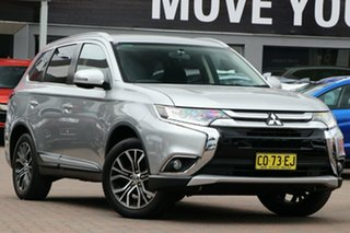 2017 Mitsubishi Outlander ZK MY17 LS 4WD Safety Pack Silver 6 Speed Constant Variable Wagon.