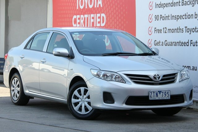 Used Toyota Corolla ZRE152R Ascent, 2013 Toyota Corolla ZRE152R Ascent Silver Pearl 4 Speed Automatic Sedan