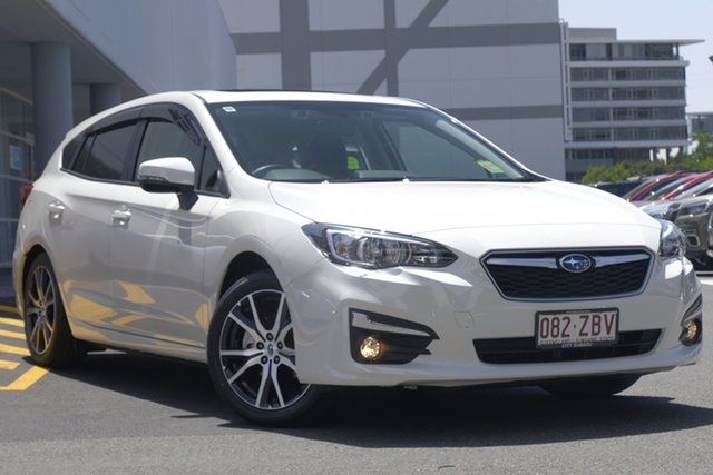 Demo Subaru Impreza G5 MY19 2.0i Premium CVT AWD, 2019 Subaru Impreza G5 MY19 2.0i Premium CVT AWD White Crystal 7 Speed Constant Variable Hatchback