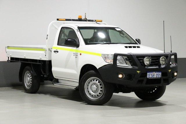 Used Toyota Hilux KUN26R MY14 SR (4x4), 2015 Toyota Hilux KUN26R MY14 SR (4x4) White 5 Speed Manual Cab Chassis