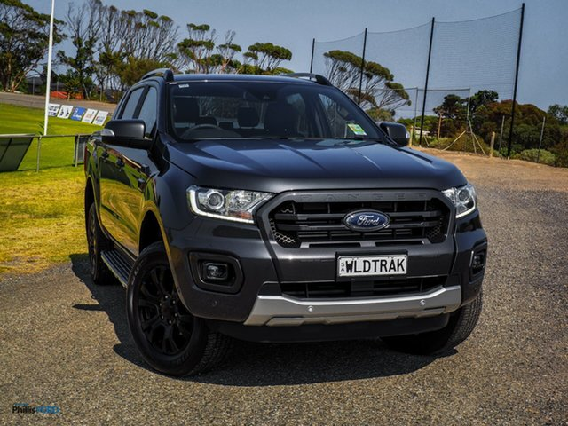Demo Ford Ranger PX MkIII 2019.75MY Wildtrak Pick-up Double Cab, 2019 Ford Ranger PX MkIII 2019.75MY Wildtrak Pick-up Double Cab Meteor Grey 10 Speed