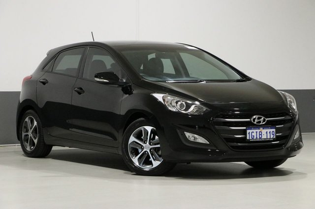 Used Hyundai i30 GD4 Series 2 Active X, 2016 Hyundai i30 GD4 Series 2 Active X Black 6 Speed Automatic Hatchback