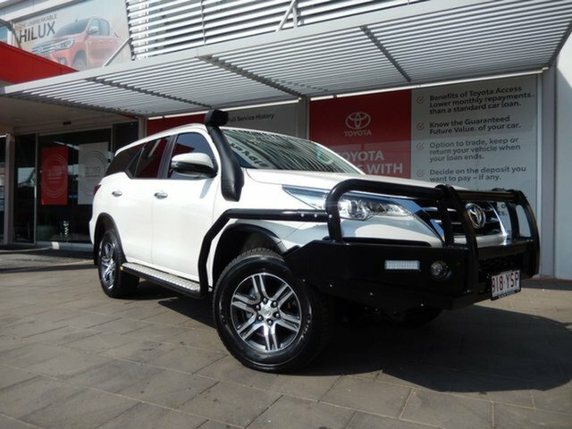 Used Toyota Fortuner GUN156R GXL, 2019 Toyota Fortuner GUN156R GXL Crystal Pearl 6 Speed Automatic Wagon