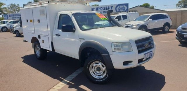 Used Ford Ranger PJ XL, 2008 Ford Ranger PJ XL White 5 Speed Manual Cab Chassis