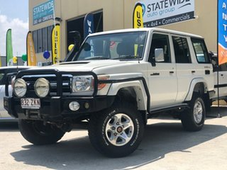 2008 Toyota Landcruiser VDJ76R GXL (4x4) White 5 Speed Manual Wagon.