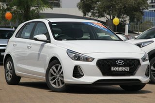 2019 Hyundai i30 PD2 MY20 Active Polar White 6 Speed Automatic Hatchback.