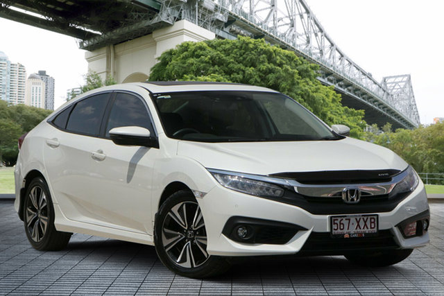 Used Honda Civic 10th Gen MY16 VTi-LX, 2017 Honda Civic 10th Gen MY16 VTi-LX White 1 Speed Constant Variable Sedan