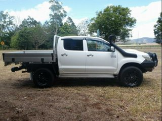 2012 Toyota Hilux KUN26R MY12 SR5 Double Cab Glacier White 5 Speed Manual Utility.