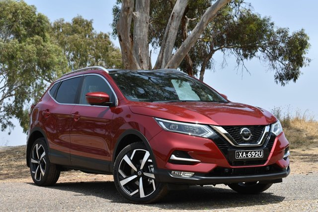 Demo Nissan Qashqai J11 Series 2 Ti X-tronic, 2019 Nissan Qashqai J11 Series 2 Ti X-tronic Magnetic Red 1 Speed Constant Variable Wagon
