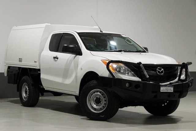 Used Mazda BT-50  XT (4x4), 2012 Mazda BT-50 XT (4x4) White 6 Speed Manual Freestyle Cab Chassis