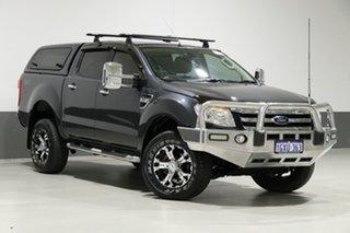 2013 Ford Ranger PX XLT 3.2 (4x4) Grey 6 Speed Automatic Dual Cab Utility.