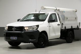 2017 Toyota Hilux GUN122R Workmate White 5 Speed Manual Cab Chassis.