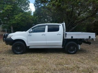 2012 Toyota Hilux KUN26R MY12 SR5 Double Cab Glacier White 5 Speed Manual Utility