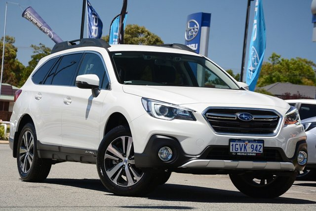 Demo Subaru Outback B6A MY19 2.5i CVT AWD, 2019 Subaru Outback B6A MY19 2.5i CVT AWD Crystal White 7 Speed Constant Variable Wagon