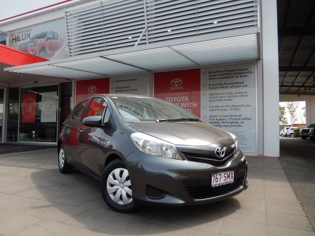 Used Toyota Yaris NCP130R YR, 2012 Toyota Yaris NCP130R YR Graphite 4 Speed Automatic Hatchback