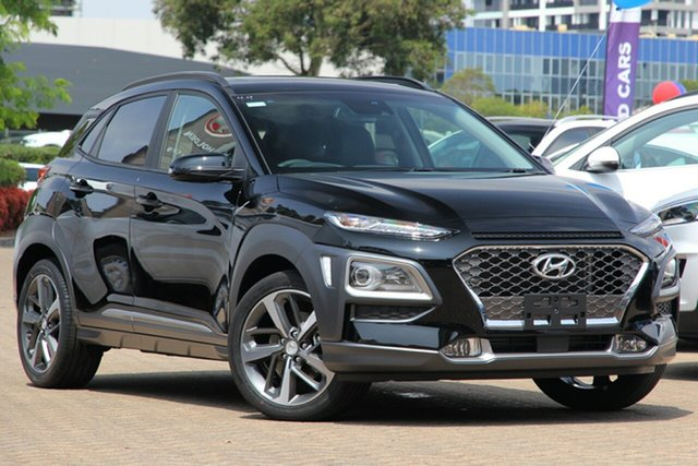 New Hyundai Kona OS.3 MY20 Highlander 2WD, 2019 Hyundai Kona OS.3 MY20 Highlander 2WD Chalk White 6 Speed Sports Automatic Wagon
