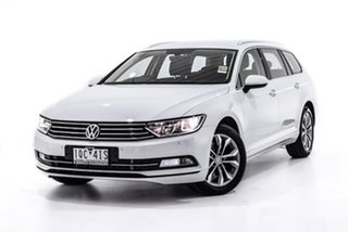 2019 Volkswagen Passat 3C (B8) MY19 132TSI DSG White 7 Speed Sports Automatic Dual Clutch Wagon.