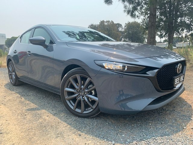 Demo Mazda 3 BP2HLA G25 SKYACTIV-Drive GT, 2019 Mazda 3 BP2HLA G25 SKYACTIV-Drive GT Polymetal Grey 6 Speed Sports Automatic Hatchback