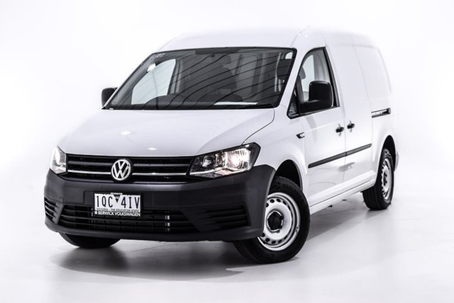 Demo Volkswagen Caddy 2KN MY19 TDI250 Maxi DSG, 2019 Volkswagen Caddy 2KN MY19 TDI250 Maxi DSG White 6 Speed Sports Automatic Dual Clutch Van